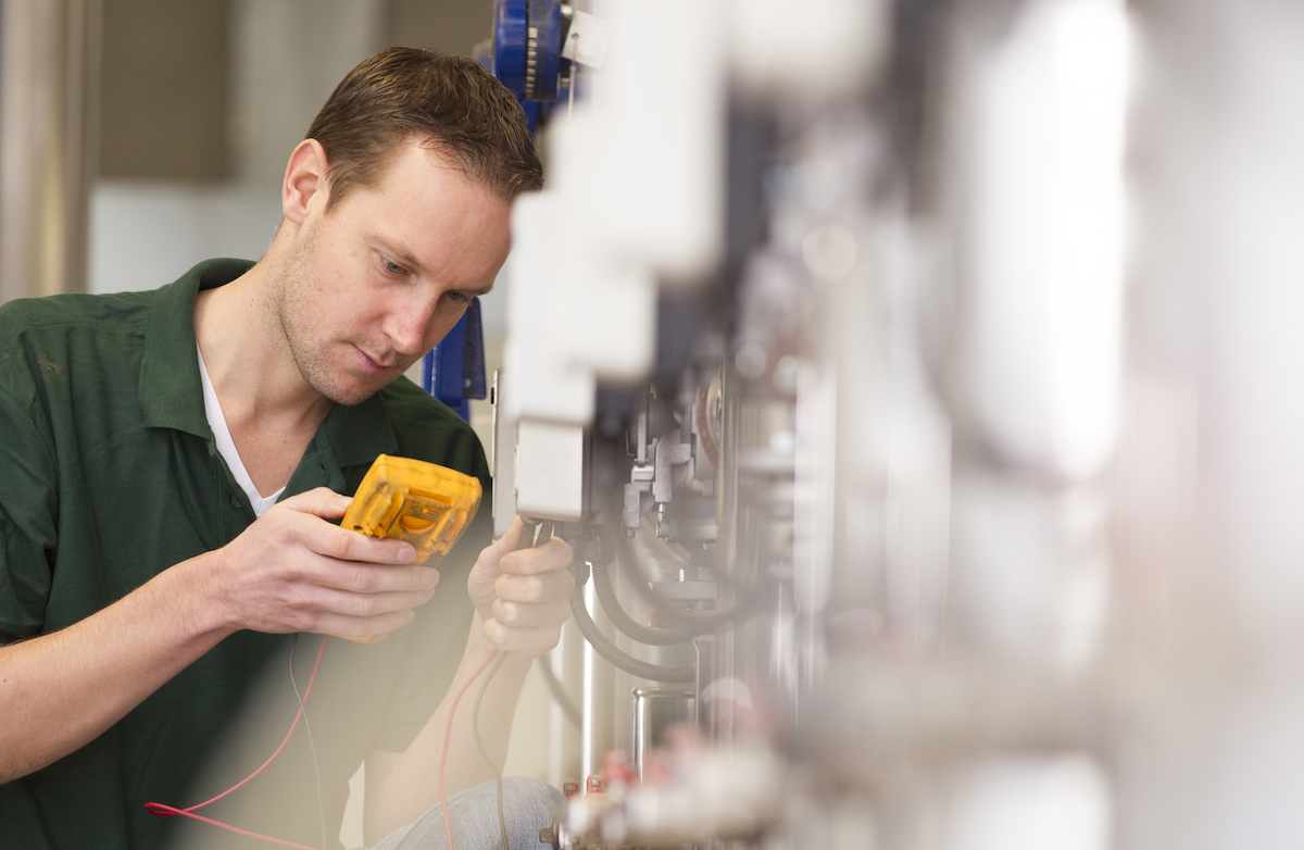 How do you approach troubleshooting electrical equipment at work?