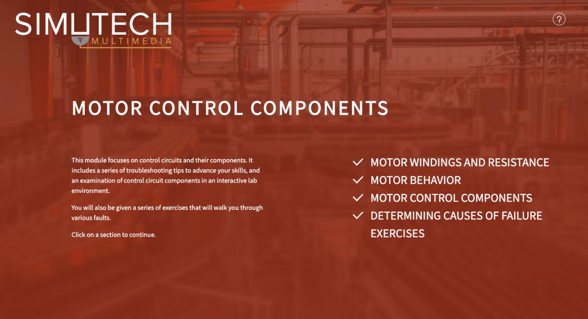 Simutech Motor Control Components Module