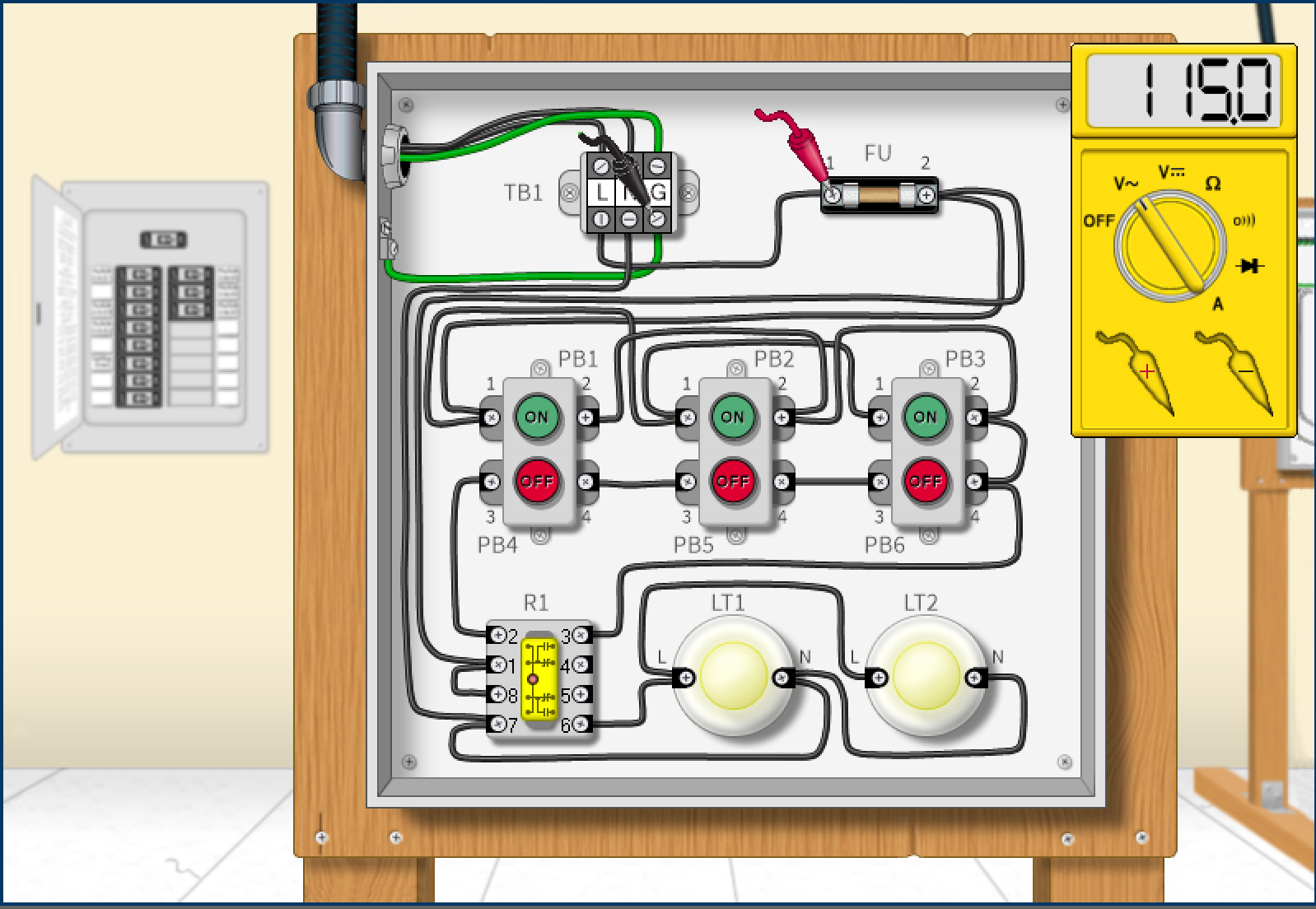 Troubleshooting Electrical Circuits Tec Simutech Multimedia Software Is Very Useful When Simulating This Type Of Circuit Diagram The Simulations